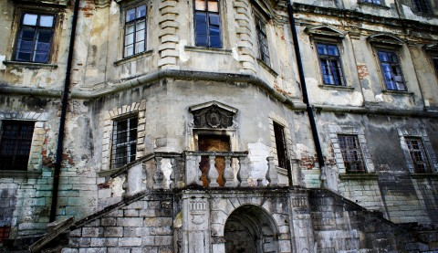 Pidhirtsi Castle is a residential castle-fortress located in the village of Pidhirtsi in Lviv Oblast (province) western Ukraine, located eighty kilometers east of Lviv. It was constructed by Guillaume Le Vasseur de Beauplan between 1635–1640 by order of the Polish-Lithuanian Commonwealth's Grand Crown Hetman Stanislaw Koniecpolski, on the place of the older fortress.